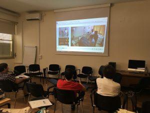 Students sharing a HF Sim Scenario